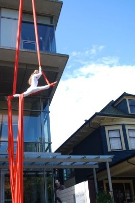 Aerial Silks performed at The Dr. Peter AIDs Centre in Vancouver, BC